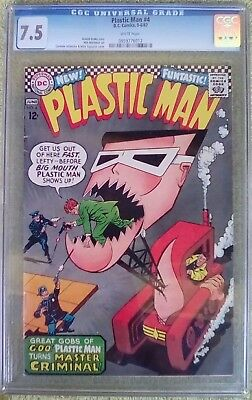 Plastic Man #4 (May-Jun 1967, DC) 7.5 VF- CGC