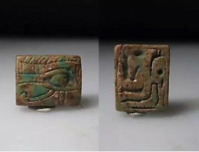 Ancient Egyptian Steatite Plaque With A Wedjat Eye 1293 - 715 B.C.
