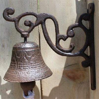 Vintage Rustic Cast Iron Door Bell Chime Ring Country Farmhouse Wall Decoration