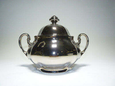 Bohemia Czechoslovakia Antoinette - Zuckerdose sugar bowl - silver plated china