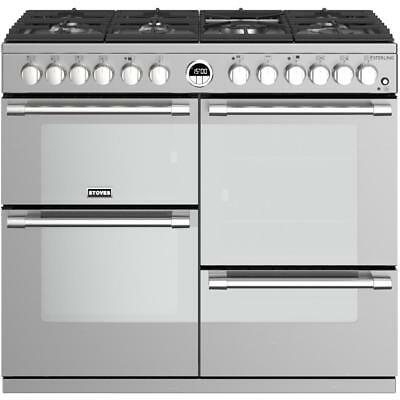 Stoves Sterling S1000DF Stainless Steel 100cm Dual Fuel Range Cooker 444444492