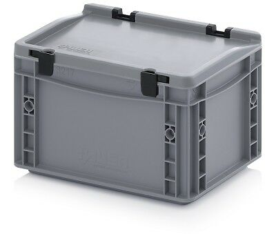 Plastic Box 30x20x18, 5 Storage Box Stacking Crates Campingbox Lid Plastic