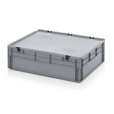 Euro Containers 80x60x23, 5 with Lid Stacking Lagerbox Stapelbox 800x600x235