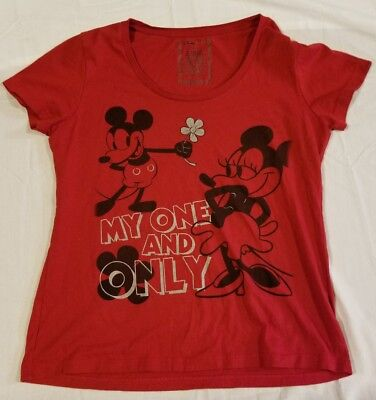 Disney Store My One and Only Red Shirt Original Mickey Minnie Organic Cotton XL