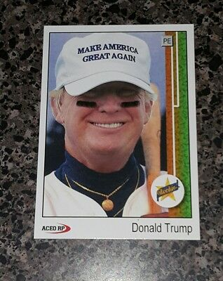 Donald Trump 1989 Style ACEO Baseball Art  Griffey Rookie Card Parody ** Mint **