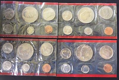 1973, 1976, 1977 & 1978 US Coin Mint Set with 4 Eisenhower Dollars (#6)