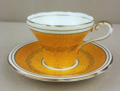 Aynsley Yellow Gold Tea Cup And Saucer Bone China England