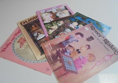 5 x Craft Sewing Doll Making Books Dumplin, Darlin, on Parade Dolls,bears bulk
