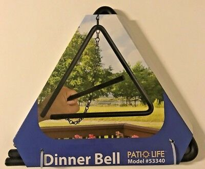 """9"""" Patio Life Triangle Dinner Bell"""