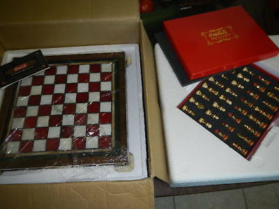 Franklin Mint Coca Cola Stained Glass Chess Set New In Box