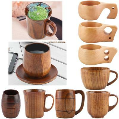 Traditional Handmade Natural Solid Wood Wine Cup Wooden Tea Drinking Beer Mug