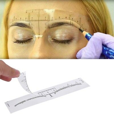 50pcs Reusable Semi Permanent Eyebrow Stencil Makeup Microblading Measure T S4R3