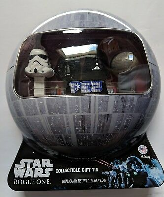 Star Wars Rogue One PEZ COLLECTIBLE TIN w/ Death Trooper Death Star