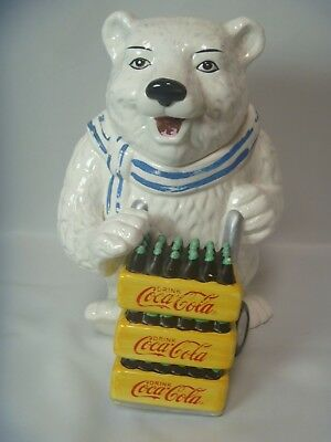 Coca Cola Polar Bear Delivery Cookie Jar