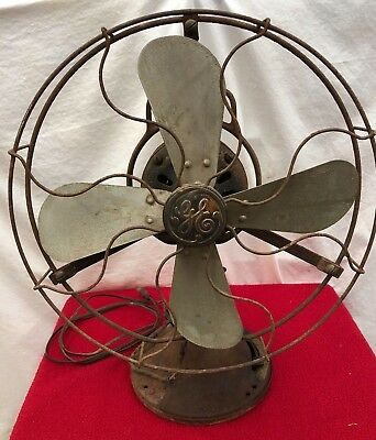 "Vintage Antique General Electric Oscillating 12"" Fan Blades Type AOU Cat # 75423"