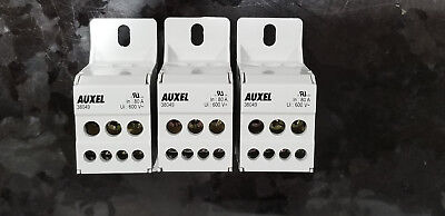 Auxel Power Distrubution Block 600V 80A 1Phase 4 Outputs 38049