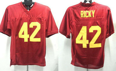 Ricky Baker #42 Football Jersey Boyz n the Hood Retro Movie Stitched Red NWT