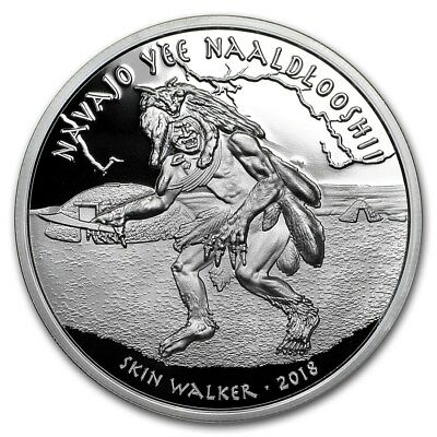 2018 Native American Myths Series Navajo Skin Walker 1 oz Silver Proof Round