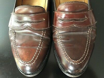 7788389f04d Brooks Brothers Alden Shell Cordovan Penny Loafers Shoes 8.5D 8.5 D 8 1 2