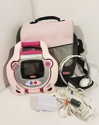 FISHER PRICE Kid Tough Portable DVD Player Carrying Bag Headphones& Charger Pink