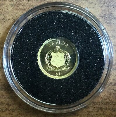 2011 Samoa One Dollar Proof .999 Pure Gold .5 Gram Coin!