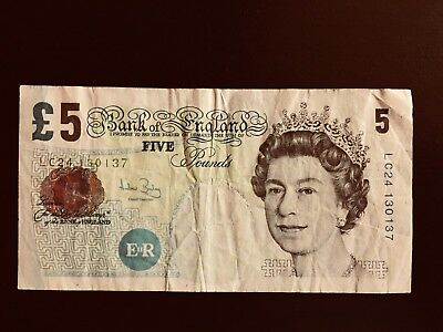 British 5 Pounds Note