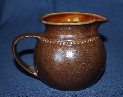 Large Retro Classic BENDIGO Milk Jug Chocolate Brown Toned Glazes