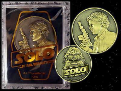 STAR WARS SOLO MOVIE Medal JAPAN Theater Exclusive 2018 Han Solo Chewbacca