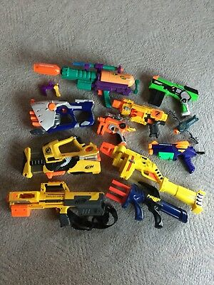 Lot of 12 Nerf Guns & Accessories!!!