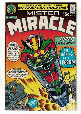 DC COMICS Mr MISTER MIRACLE #1 + Cert Brian bolland justice league 6.0 FN 1971