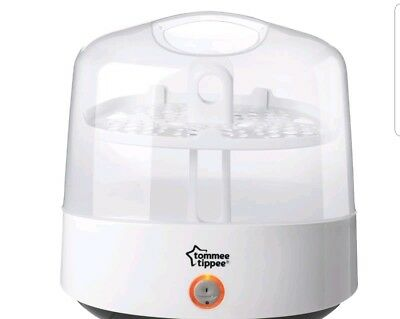 Tommee Tippee Electric Steam Steriliser Set Baby Bottle Complete Kit White
