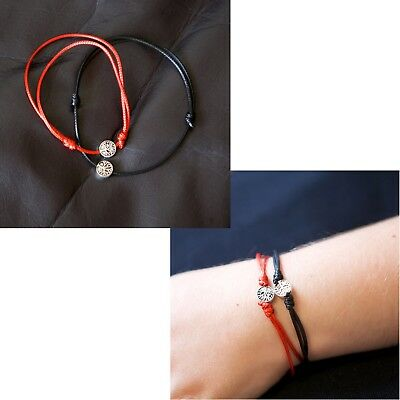 Zuzu Lucky Black Red String Rope Silver Tree Of Life Charm Bracelet Jewellery UK
