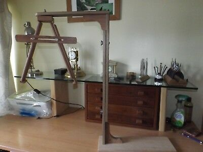 Clock repairers test stand 4 Cuckoo & Weight driven, adjust/repair both holders