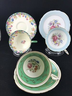 3 Paragon Aynsley Lot Cup & Saucers