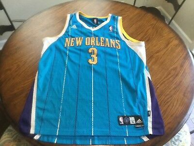 e0dfb1adb Vintage Adidas CHRIS PAUL  3 New Orleans Hornets Jersey SEWN Men s XL NBA