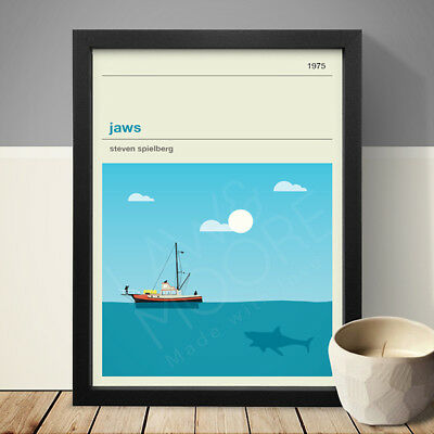 JAWS Alternative Minimal Movie Poster