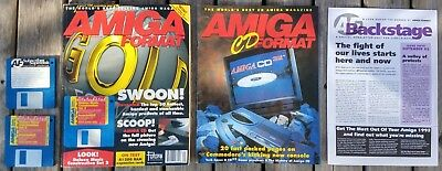 Amiga Format 50 (September 1993) with Backstage, CD32 supplement and disks