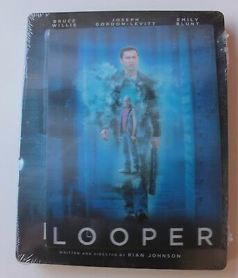 Looper - Édition SteelBook with lenticular [Blu-ray] New !!