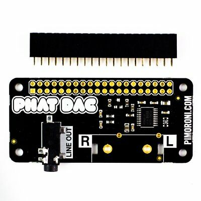 Phat Dac Hifi Audio for Raspberry Pi 0/zero/w/2/3 Pimoroni with RCA
