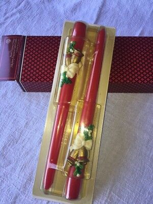 Avon Christmas Chimes set of 2 Taper Candles bayberry fragrance New in Box