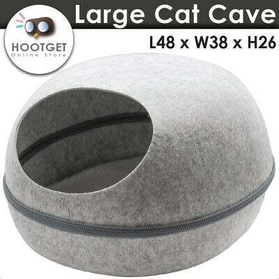 Large Cat Cave Soft Cushion Igloo Kitten Cat Bed Mat House Dog Puppy 48x38x26cm