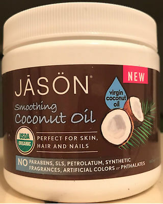 JASON Organic Smoothing Virgin COCONUT Oil For Body,Hair,Nails,Hands 443ml 15 oz