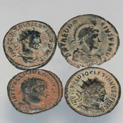 Lot Of 4 Roman Imperial Bronze coins