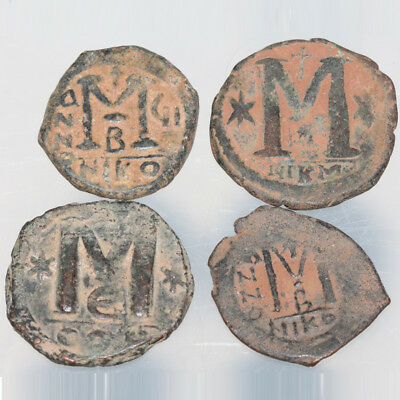 Lot of 4 Byzantine Large Bronze coins Follis
