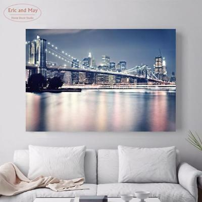 3D Landscape Canvas Painting Poster New York Art Print Wall Pictures No Frame