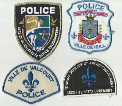 Hull / S.P.R.S. / Valcourt / Travaux Pub. (QUEBEC) Police Patches