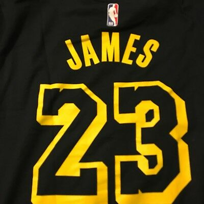aa546c30c5a8 LEBRON JAMES LOS Angeles Lakers Nike City Edition Name   Number T-Shirt  Size 2XL -  34.99