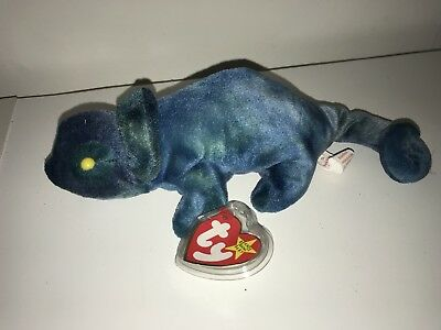 032438c3be0 Ty 1997 Beanie Babies Baby Rainbow the Chameleon Green   Blue with Tag  Protector