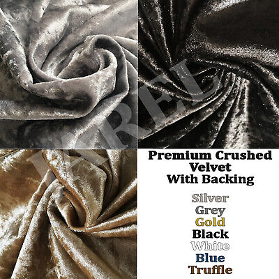 Premium Quality Crushed Velvet Fabric soft flexible craft upholstery curtains