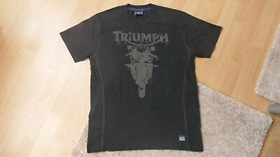 "orig. TRIUMPH MOTORCYCLES T-SHIRT Gr. M, ""SINCE 1902 GREAT BRITAIN"", gut erh."